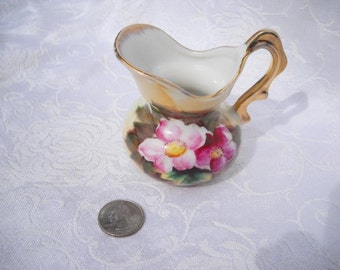 Enesco Vintage Japan Small Floral Pitcher