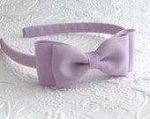Lavender Bow Headband, Toddler ~ Girls Bow Headband