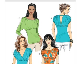 Misses' High-Waisted Top in Four Variations - Sz 14/16/18/20 Butterick Top Pattern B5497