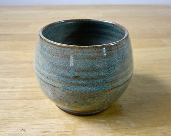 Stoneware Wine Cup - Clay Tea Cup - Yunomi - Pottery Juice Cup - Ceramic Cup - Blue - Small Cup