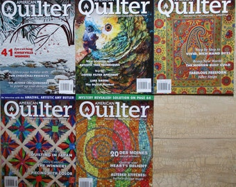 American Quilter Magazines Five Issues 2011 Quiltsy Destash Party