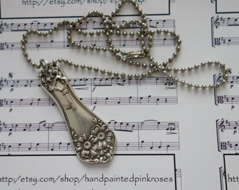 Vintage flatware spoon handle Necklace