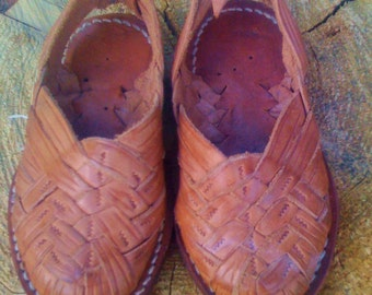 Handwoven Vintage Baby Huaraches from Mexico