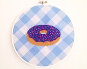 Frosted Donut with Sprinkles Hoop Art