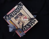 Graphic 45 Girl or Boy School Scrapbook Binder Album Grades K~12, Journal Cards, pocket pages