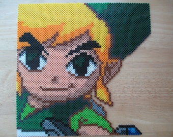 Zelda WindWaker, Windwaker, zelda, link, video games, retro games, video game gifts, perlers, perler art, Link windwaker, wind waker, geeky