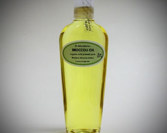 8 Oz Broccoli Seed Oil 100% Pure & Organic Cold Pressed