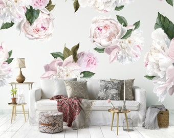 Vinyl Wall Sticker Decals - Peonies