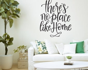 Vinyl Wall Sticker Decal Art - There's no place like Home