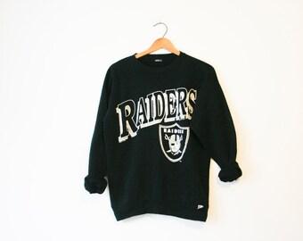 Vintage Black Raiders Football Sweatshirt