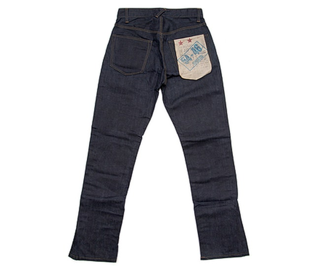 "QMC ""54-46 Waxed Highrider"" American Denim Biker Jean"