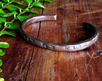 Unique Handmade Copper cuff bracelet,  Copper  Cuff ,Rustic Jewelry, Handmade Bracelet,Copper  Jewelry