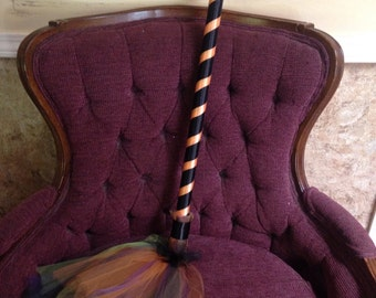Tulle Witches Broom - Witch Costume - Broomstick - Witch Broom