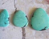 Green Turquoise Cabochon, 85 Carat, TC1831, 3 pcs, Gemstone Cabochon