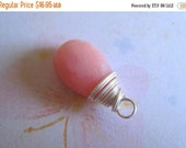 20% OFF ON SALE Pink Opal Sterling Silver Wire Wrapped Briolette Dangle, 1 pc, Gemstone Beads
