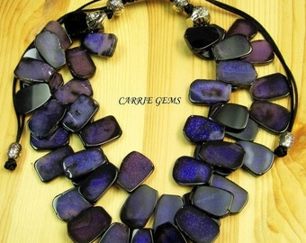 20% OFF ON SALE 2-strand Purple Butterfly Agate Necklace, Gemstone Jewelry