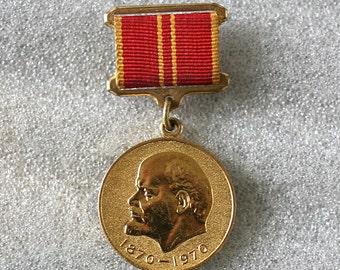 "Soviet Medal "" For Valiant Labor "" in celebration of 100th Lenin Anniversary - from Russia / Soviet Union / USSR"