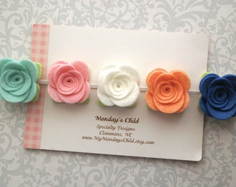 Felt Flower Crown, Baby Flower Crown, Felt Flower Garland, Felt Flower Headband, Flower Crown, M2M Matilda Jane Happy and Free