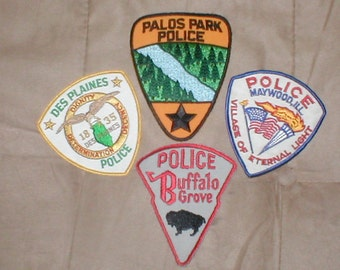 lot of 4 Vintage POLICE Patches
