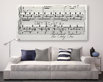 Sheet Music On Canvas, Sheet Music Design, Sheet Music Framed on Canvas, First Dance On Canvas, Anniversary Gift