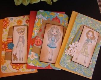 Card Set of Three girls