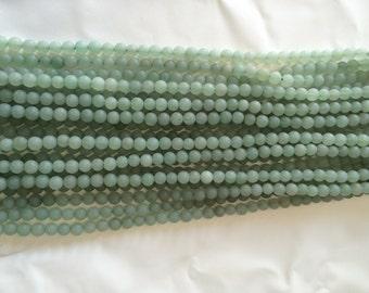 Matte Finished Aventurine Beads