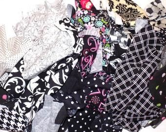 Black fabric scraps