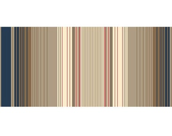 Black, Taupe, Red, Cream Stripe - Imperial by Waverly for Quilting Treasures - Full or Half Yard