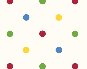 Bright Primary Polka Dot - Puddle Jumpers from Red Rooster Fabrics - Full or Half Yard Dots