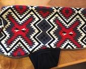 Blanket Pattern Fleece Dog Coat with Sherpa liner