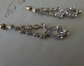 Vintage Rhinestone dangling earrings
