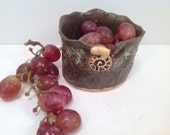 Small bowl/stoneware bowl/bowl/serving bowl/handmade bowl/cup/fruit cup/salsa bowl/gifts under 20
