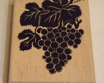 A Stamp in the Hand N-1987 Grapes Rubber Stamp