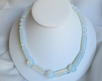 Luminous opalite necklace is sure to make a statement