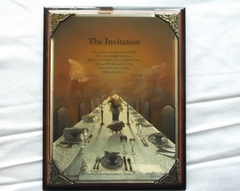 "Plaque  The Invitation by Danise Hahlbohm, ""RSVP""  Shipping Included"
