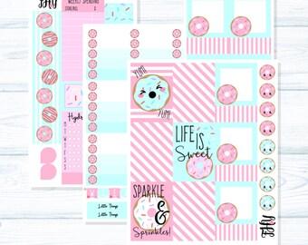 EC VERTICAL - Happy Donut Full Cover Planner Sticker Set