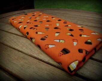 Candy Corn Fabric, Orange Fabric, Half Yard, Brown Orange Yellow, Cheeky Wee Pumpkins, Halloween Fabric, Halloween Material, Orange and Yell