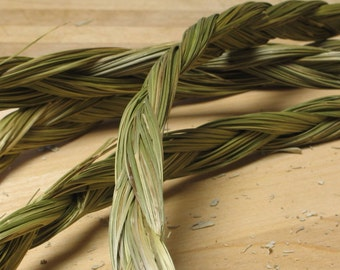 """24 """" Sweetgrass Braid Incense - meditation - grass holy weed smudging - smudge sweet grass"""