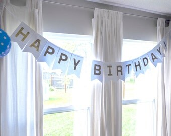 Deluxe Happy Birthday Banner and Photo Prop, choose from a rainbow of colors!