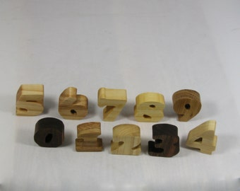 Child's Toy Numbers -  Kid's Decor  - Early Education - Kid's Educational Toy  - 0 thru 9