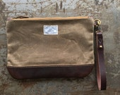 No. 9 Personal Effects Bag in Dark Khaki Waxed Canvas