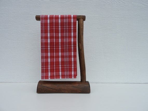 Countertop Hand Towel Holder : Countertop Log Hand Towel Holder Espresso Stain by RusticLogDecor