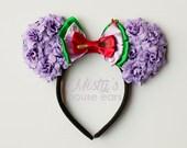 Inspired Ariel Mermaid Rose Mouse Ears