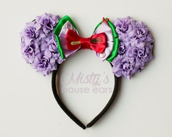 Inspired Ariel Mermaid Rose Mouse Ears