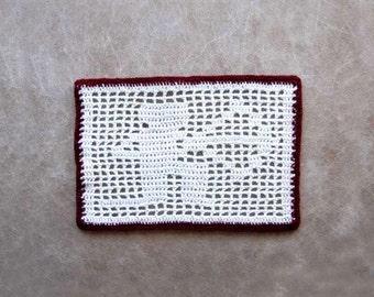 Sagittarius Arrow Decor Crochet Doily, December Star Sign, Zodiac Archer, Birthday Gift, Filet Table Lace, Astrology Table Decoration