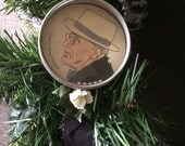 Handheld ball game puzzle Franklin D. Roosevelt presidential Christmas ornament