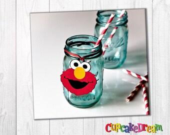 Elmo Birthday Decoration Tag, Elmo Party, Gift Tag