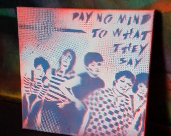 SALE Ready 2 Ship The Go-Gos Go Gos Gogos band canvas painting street art spray paint original stencil
