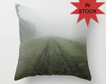 Mystical Decorative Throw Pillow Cover, Fog, Mystery, Ethereal, Man Cave Decor, Toss Cushion Case, Unique Gift for Him, Living Room, Office