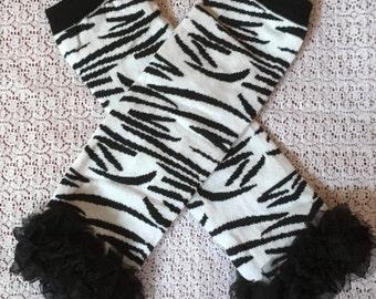Zebra Leg Warmers, Baby Legs, Zebra Baby Legs